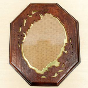 Vintage 70s Octagonal Picture Frame for 4x6 or 5x7
